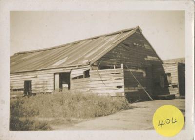Photograph, Old Blacksmith Building Redan Street; Unknown photographer; 1945-1955; WY.0000.1406