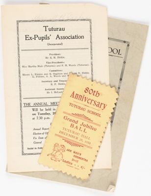 Archives, Tuturau School; 1889-1950; WY.1988.244