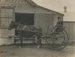 Photograph, Man on Gig outside Island Dairy Factory; Mora Studio; 1892-1902; WY.0000.288