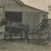 Photograph, Man on Gig outside Island Dairy Factory; Mora Studio; 1892-1902; WY.0000.288