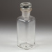 Bottle, Small Square Medication; Unknown manufacturer; Unknown; WY.1996.59.53