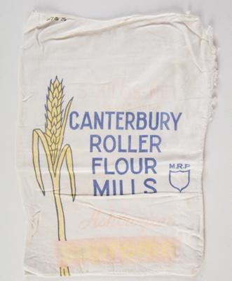 Bag, 5kg Canterbury Roller Flour Mills; Canterbury Roller Flour Mills; 1970-1980; WY.1994.26.3