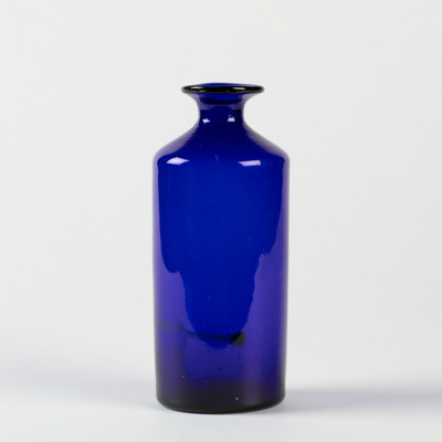 Bottle, Cobalt Blue; Unknown manufacturer; unknown; WY.1996.59.32