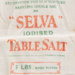Bag, 5lb Selva Iodised Table Salt; New Cheshire Salt Works Limited; 1930-1940; WY.1990.153.6