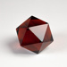 Prism, Icosahedron - Ruby Glass; Unknown manufacturer; Unknown; WY.1997.11.14