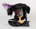 Bonnet, Purple and Black Feathered Bonnet; Unknown maker; 1890-1900; WY.0000.111