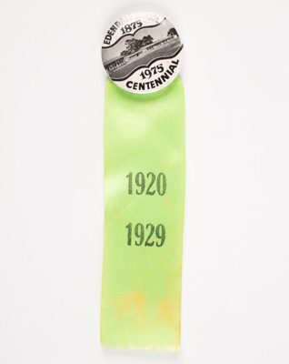 Badges, Edendale School Centennial; Unknown manufacturer; 1975; WY.0000.677