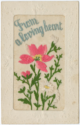 Postcard, Embroidered; Unknown manufacturer; 1914-1918; WY.0000.1368