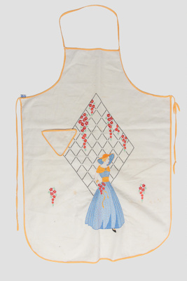 Apron, 'Crinoline Lady' with Trellis; Hall, May; 1960-70; WY.2006.37.1