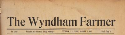 The Wyndham Farmer, 1945 Editions; 1945; WY.0000.592