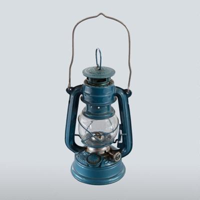 Lamp, Small Blue Oil; KWANG HWA; 1950-1990; WY.1990.96.1