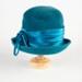 Hat, Women's Teal Felt; Unknown maker; 1950-1960; WY.0000.118