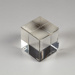 Prism, Glass Cube; Unknown manufacturer; Unknown; WY.1997.11.1