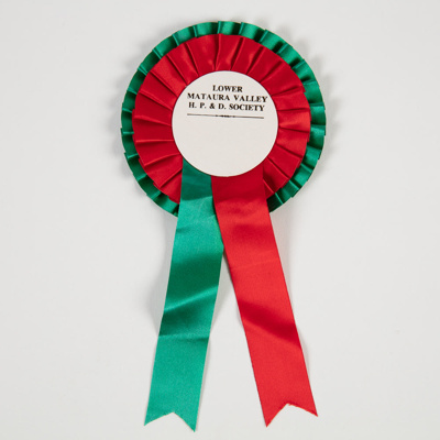 Rosette, Piping and Dancing Society; Canterbury Show Ribbons Ltd; 1963-2000; WY.0000.1289