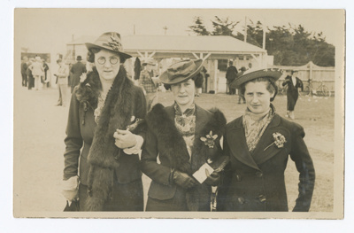 Photograph, Three Ladies At The Wyndham Races; Unknown photographer; 1920-1930; WY.1997.23.2