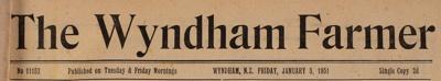 The Wyndham Farmer, 1951 Editions; 1951; WY.0000.669