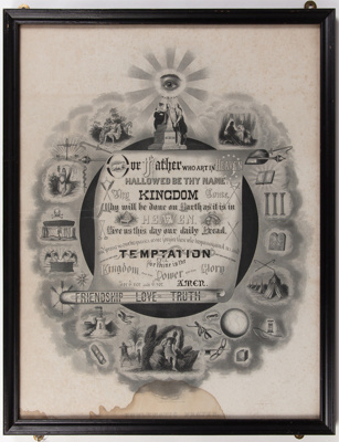 Poster, Emblematic Prayer; T.C. Fielding, Boston, Mass.; 1883; WY.2013.8.62