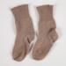 Socks, Brown Cotton child's; Unknown manufacturer; 1940-1950; WY.0000.156