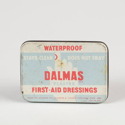Medicine, 'Dalmas' First Aid Dressings Tin; Dalmas Ltd; 1950-1960; WY.0000.459