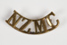 Badge, New Zealand Rifle Brigade Shoulder; Unknown manufacturer; 1914-1918; WY.2000.12.4.19
