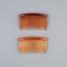 Hair Combs, Pair of Plastic Open Toothed ; Unknown maker; 1960-1970; WY.1989.400.2