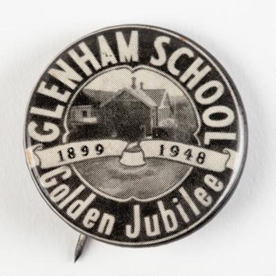 Badge, Glenham School Golden Jubilee 1899-1948; Odell, Chch; 1948; WY.0000.656