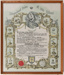 Poster, Framed Rebekah Lodge Independent Order of Odd Fellows; Unknown manufacturer; 24.08.1951; WY.2013.8.63