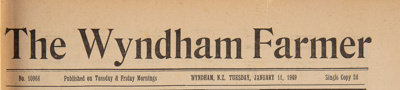 The Wyndham Farmer, 1949 editions; 1946; WY.0000.596