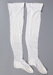 Stockings, White Cotton 							; Unknown manufacturer; 1910-1920; WY.1997.3.8