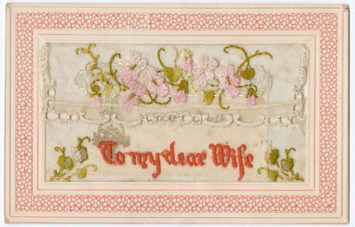 Postcard, Embroidered Lace; Excelsior; 1918; WY.1988.235.2