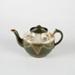 Tea Pot, Green Earthenware; Unknown manufacturer; 1910-1920; WY.2006.14.3