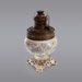 Lamp, White Floral; Unknown manufacturer; 1900-1920; WY.0000.1051