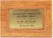Plaque, Opening of Milk Powder Complex Edendale; Unknown manufacturer; 1995; WY.2007.10.15