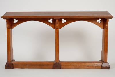 Pew Rail, St Mary's Anglican Church; Unknown manufacturer; Unknown; WY.2007.29.4