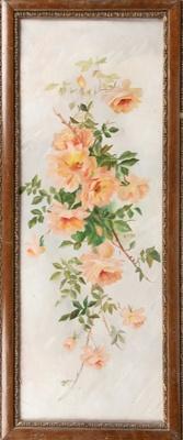 Oil Painting, Framed Roses; McKay, N M; 1900-1915; WY.1995.67.1