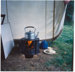 Photograph, Solid Fuel Tent Stove with Kettle; Unknown photographer; 1970-1980; WY.2000.20.1