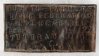 Brass Label, Cream Churn ; Unknown manufacturer; 1930-1940; WY.1986.65