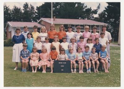 Photograph, Mataura Island School 1985; Unknown photographer; 1985; WY.0000.480