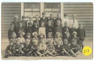 Postcard, Wyndham School Students; Unknown maker; Unknown photographer; 1930-1940; WY.1993.122