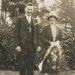 Photograph, John (Jack) and Annie Hall (nee Pryde), 1927; Unknown photographer; 1927; WY.2004.30.3