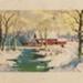 Print, Snow Scene; Unknown Artist; 1930-1940; WY.1996.1.6
