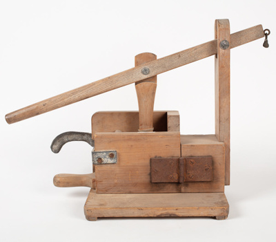Butter Press, Wooden Lever; Unknown manufacturer; 1900-1910; WY.1980.16