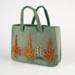 Bag, Green Felt Workbag ; Unknown maker; 1940-1950; WY.1988.195