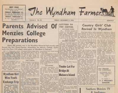 The Wyndham Farmer, 1970s Editions; 1970-1974; WY.0000.1324