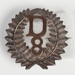 Badge, Military D 8; Unknown manufacturer; 1914-1918; WY.2000.12.4.8