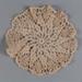 Doily, Crocheted Ecru; Unknown maker; unknown; WY.0000.136