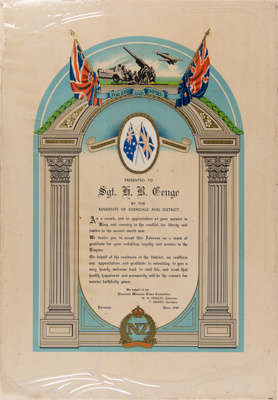 Certificate, Sgt. H.B. Genge ; Unknown; 1946; WY.0000.857
