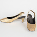 Shoes, Golden Slingback Heels; Unknown maker; 1970-1980; WY.0000.53.1