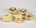 Toy Tea Set, Yellow Ceramic; Unknown manufacturer; 1930-1940; WY.2014.7