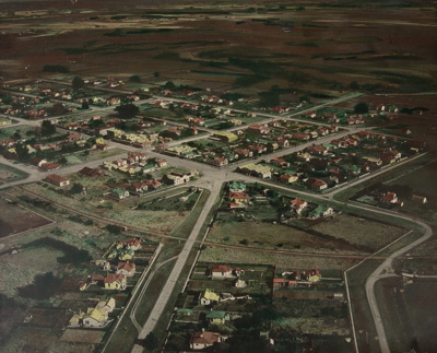 Photograph, Aerial View of Wyndham; Whites Aviation; 1940s; WY.0000.1196